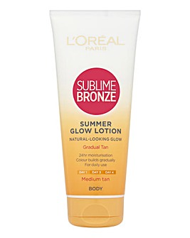 L'Oreal Sublime Bronze Summer Glow Medium Gradual Tan 200ml