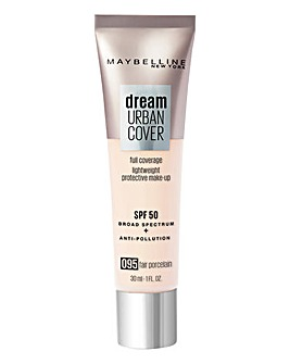 Maybelline Dream Urban Cover All-In-One Protective Foundation -095 FairPorcelain