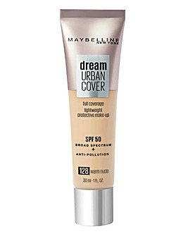 Maybelline Dream Urban Cover All-In-One Protective Foundation - 128 Warm Nude