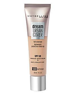 Maybelline Dream Urban Cover All-In-One Protective Foundation - 130 Buff Beige