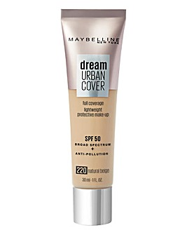 Maybelline Dream Urban Cover All-In-One Protective Foundation- 220 NaturalBeige