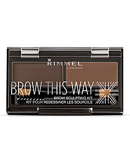 Rimmel Brow This Way Kit - Dark Brown