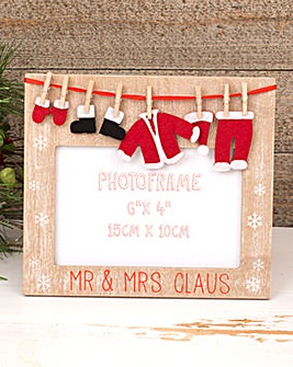 Mr & Mrs Claus Photo Frame