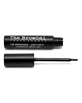 The BrowGal The Weekender Overnight Brow Tint - Dark Hair