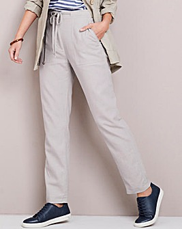 Linen Rich Tapered Leg Trousers Regular