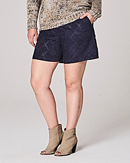 Suedette Perforated Shorts