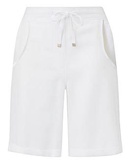 Petite Linen Mix Shorts