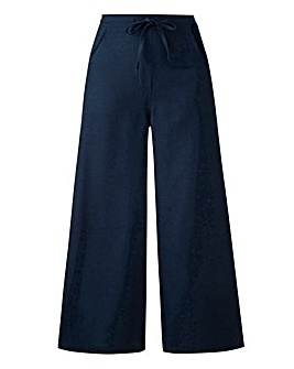 Linen Mix Wide Leg Trousers Regular