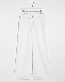 Easy Care Linen Mix Wide Leg Trousers Regular