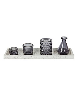 Decorative Glasses with Tray
