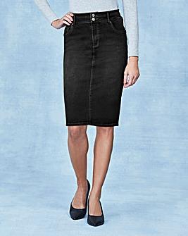 Shape & Sculpt Denim Pencil Skirt