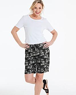 Petite Floral Linen Mix Shorts
