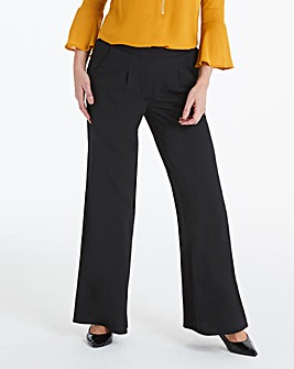 Crepe Wide Leg Trousers Regular