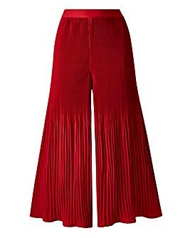 Pleat Wide Leg Culottes