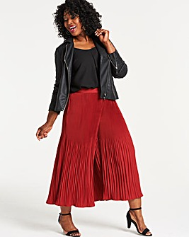 Pleat Wide Leg Culottes