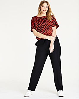 Easy Care Linen Mix Tapered Trousers Regular