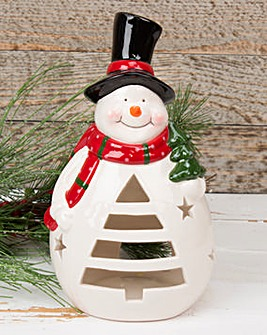 Snowman Tealight Holder