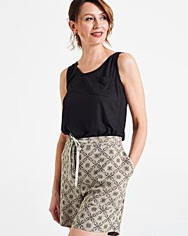 Print Linen Rich Shorts
