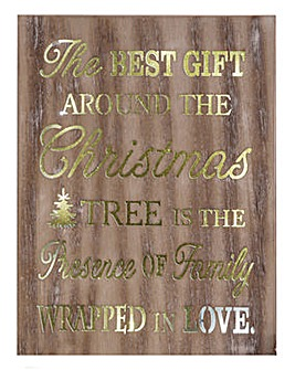 The Best Gift......Light Up Plaque