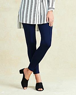 Ponte Zip Ankle Trouser Regular