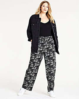 Floral Easy Care Linen Mix Trousers