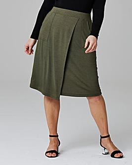 Asymetric Hem Jersey Skirt