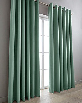 Eclipse Coated Blackout Eyelet Curtains Long