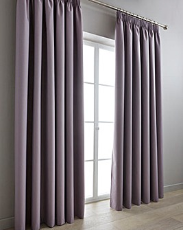 Eclipse Coated Blackout Pencil Pleat Curtains