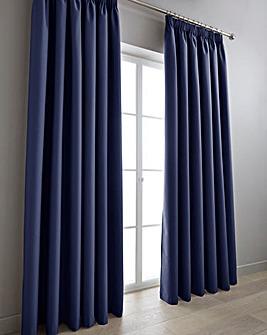 Eclipse Coated Blackout Pencil Pleat Curtains