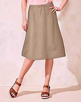 Linen Mix Maxi Skirt