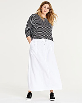 Petite Easy Care Linen Mix Maxi Skirt