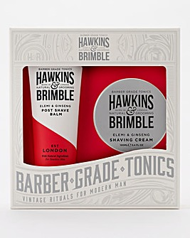 Hawkins & Brimble - Shave Cream & Post Shave Balm Gift Set