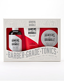 Hawkins & Brimble - Face Wash, Body Wash & Matt Clay Gift Set