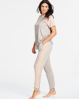 Pretty Secrets Contrast Panel Jogger Set