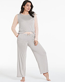 Pretty Secrets Wide Leg Pant PJ Set
