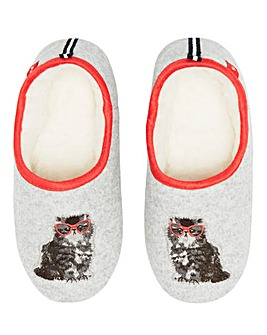 Joules Cat Slippers Standard D Fit