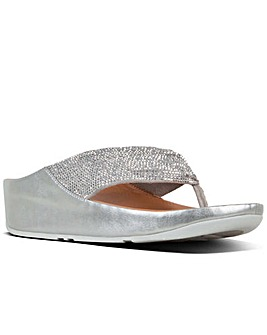 FitFlop Twiss Crystal Womens Sandals