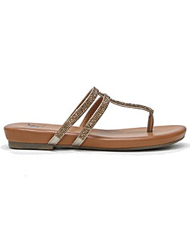 DF By Daniel Glittie Toe Post Sandals