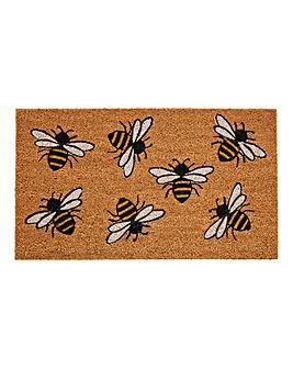Bee Printed Coir Mat