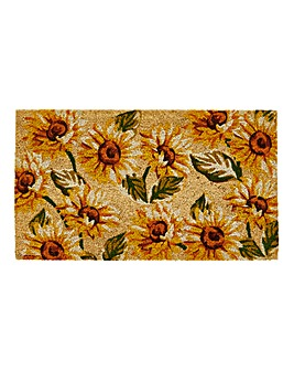 Sunflower Printed Coir Mat
