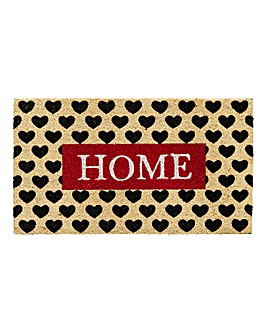 Hearts & Home Coir Printed Doormat