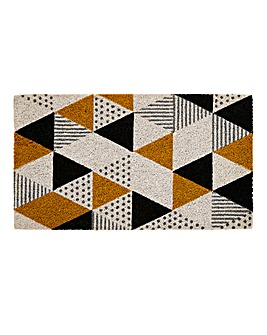 Geo Printed Coir Doormat