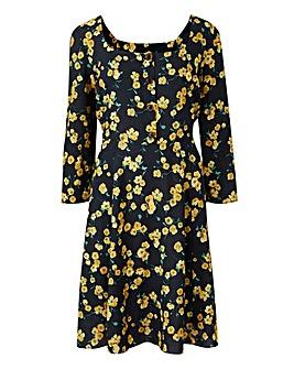 Square Neck Tea Dress