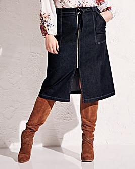Simply Be Denim Zip Skirt