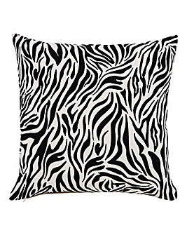Zebra Flock Print Cushion