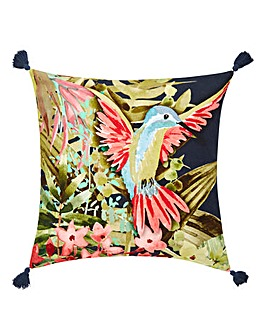 Hummingbird Tassel Cushion