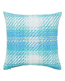 Ombre Haze Check Cushion
