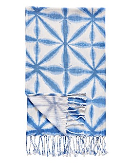 Tie Dye Blue Throw