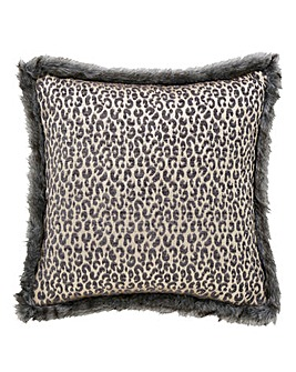 Botswana Fur Trim Cushion