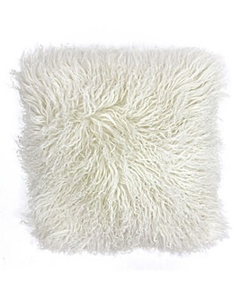 Mongolian Fur Cushion Ivory